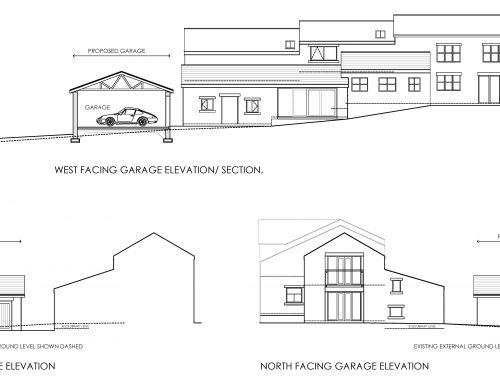 Double garage and alterations to dwelling in Green Belt