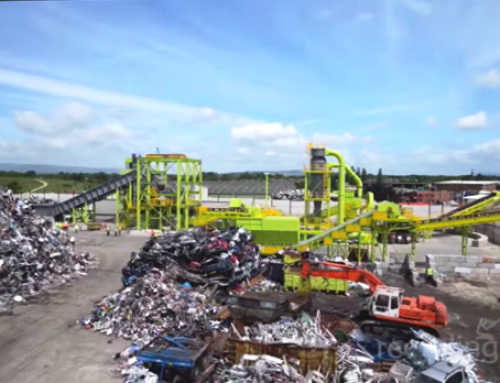 Waste recycling site in Preston